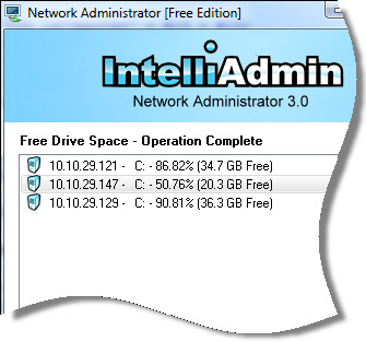 Network Administrator Free Space Example