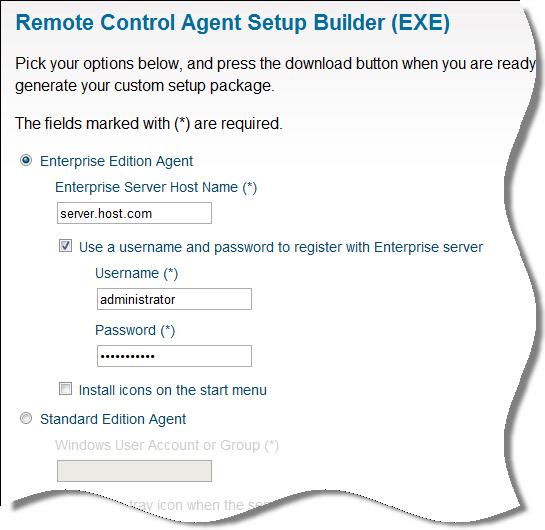 Online Tool – Remote Control Agent Builder | Remote