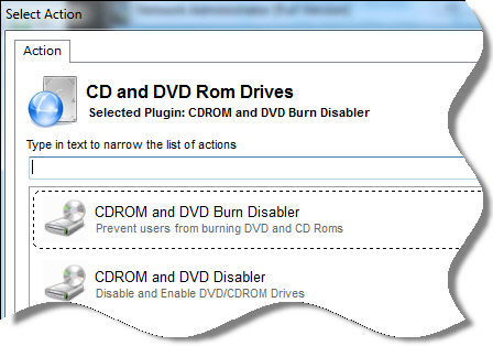 Disable CDROM DVD Burning