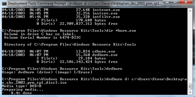 Burn ISO from command line image