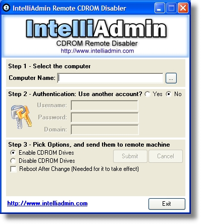 CD ROM Drive Remote Disabler screenshot