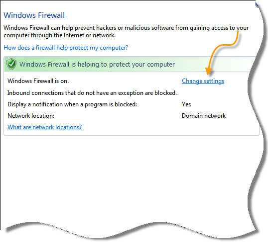 Change Firewall Settings