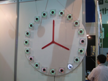 Cooling Fan Display Clock