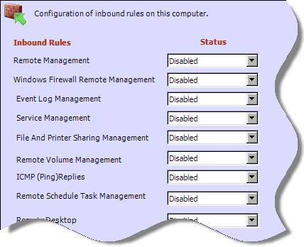 Windows 2008 Server Core Firewall Configuration