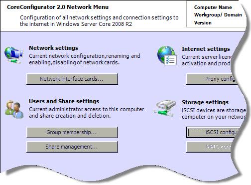 Windows 2008 Core Server Network Configuration