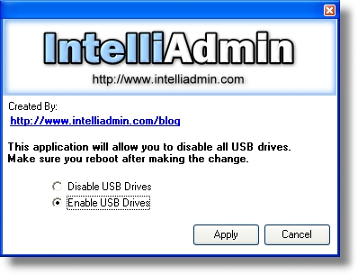 USB Drive Disabler