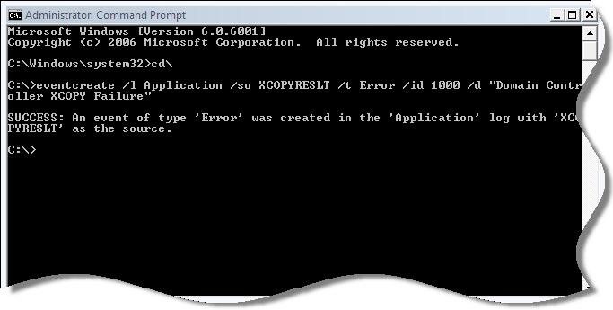 XCOPY Event Error