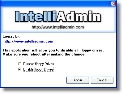 Click to view Floppy Remote Drive Disabler 2.0 screenshot