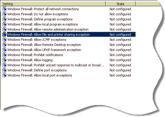 Enable file and printer sharing using group policy | Remote