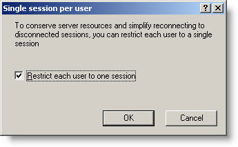 Limit Remote Desktop To One Session