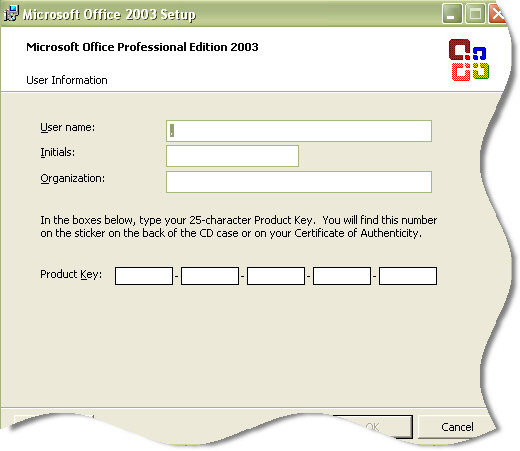 Reset your Microsoft Office 2003 Serial Number | Remote