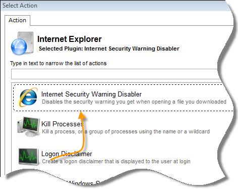 Disable Internet Security Warning