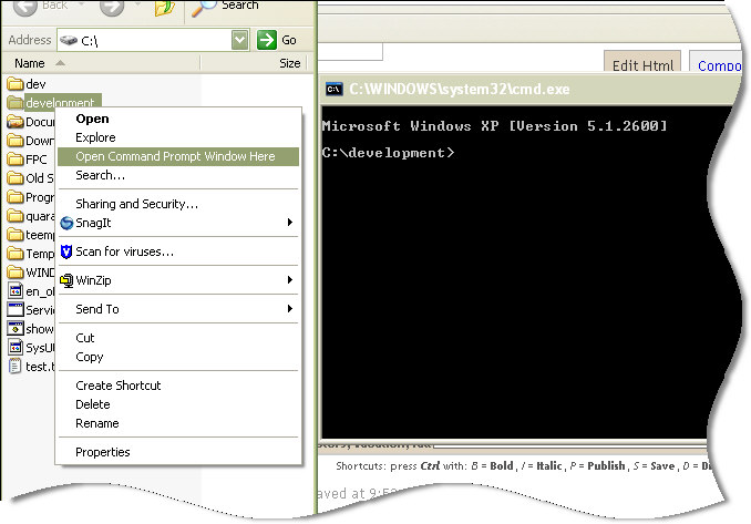 Open command prompt in any folder | Remote Administration