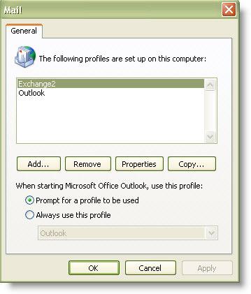 Outlook Profile Auto Complete Restore
