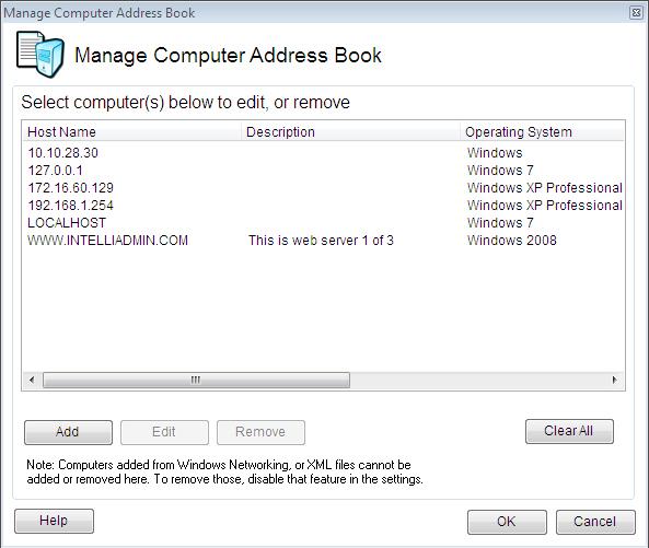 Remote Control Client Edit Computer