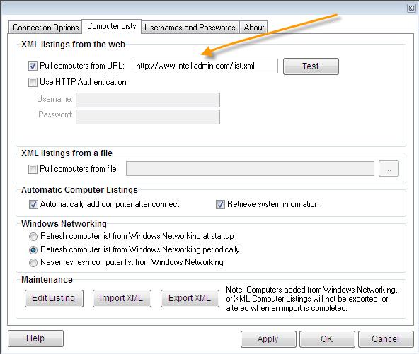 Remote Control XML Listing
