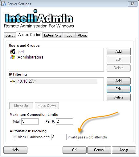 Remote Control Server Auto Block
