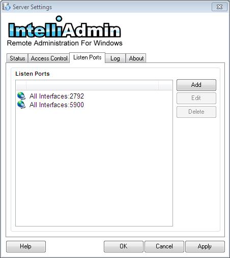 Remote Control Server Listen Ports