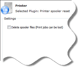 Reset Printer Delete Optio