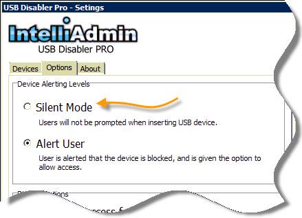 USB Disabler Pro Silent Mode