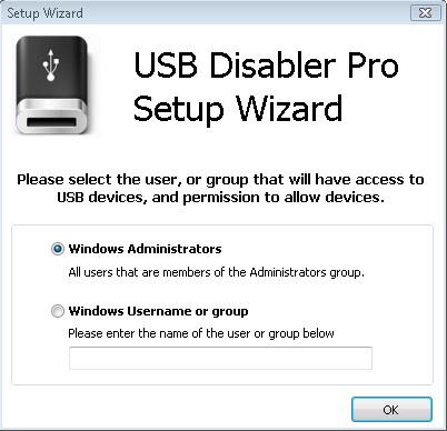 USB Disabler Pro Setup Wizard
