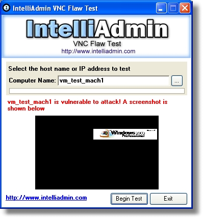 VNC Flaw Test 2.0 full