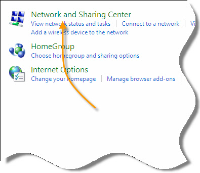 Windows 7 Network and Sharing Center