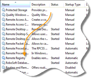Windows 7 Remote Registry