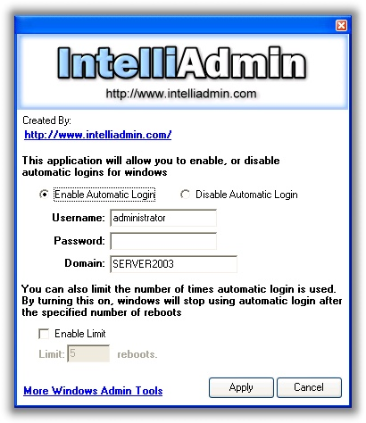 Windows Automatic Logon Limit