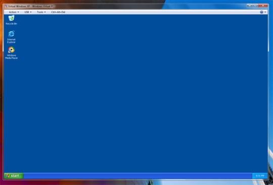 Windows XP Virtual Mode