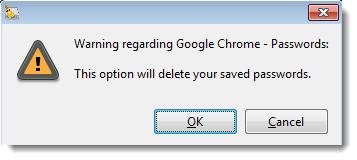 Browser Password Warning
