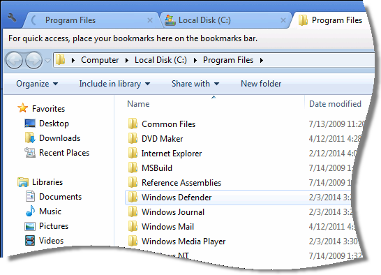 Tabbed folder view for Windows | Remote Administration For Windows