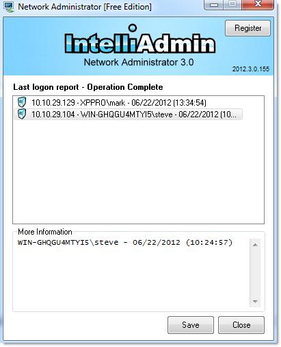 Last Logon Report