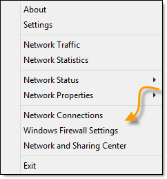 Network Activity Menu