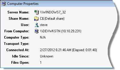 Monitor Windows Share