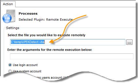UPEK Remote Execute