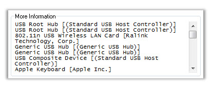 USB Device Report Output
