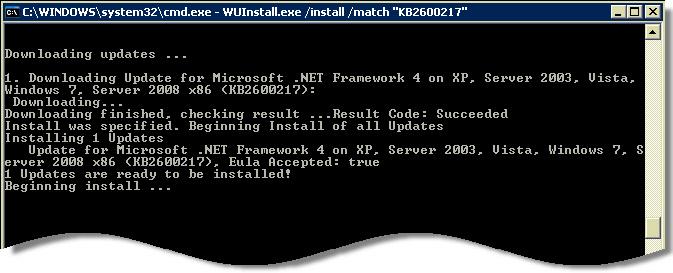 WUInstall Install