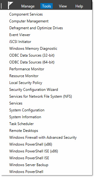 Windows 8 Server Tools