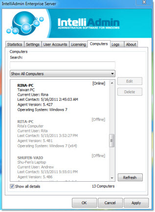 Enterprise Remote Control software screenshot