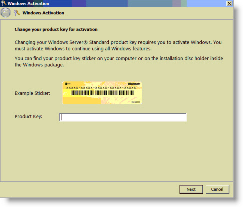 Windows 2008 activation problems remote administration for Window number